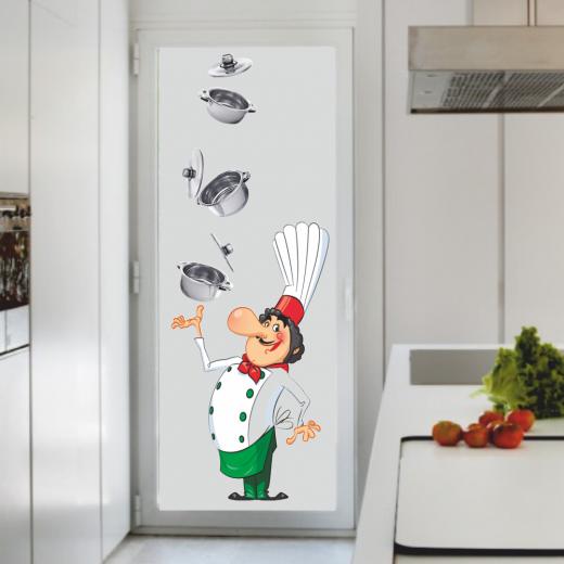 Cocina Mod. CI 1 - Cocinero con Cacerolas Foto